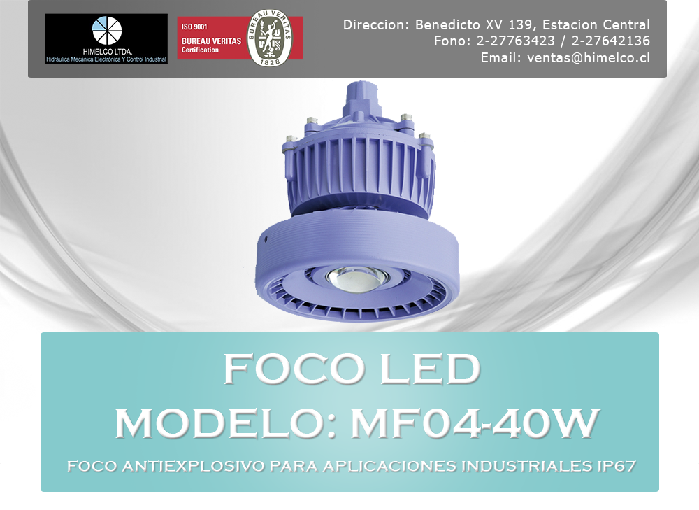 Foco LED Antiexplosivo MF04-40W