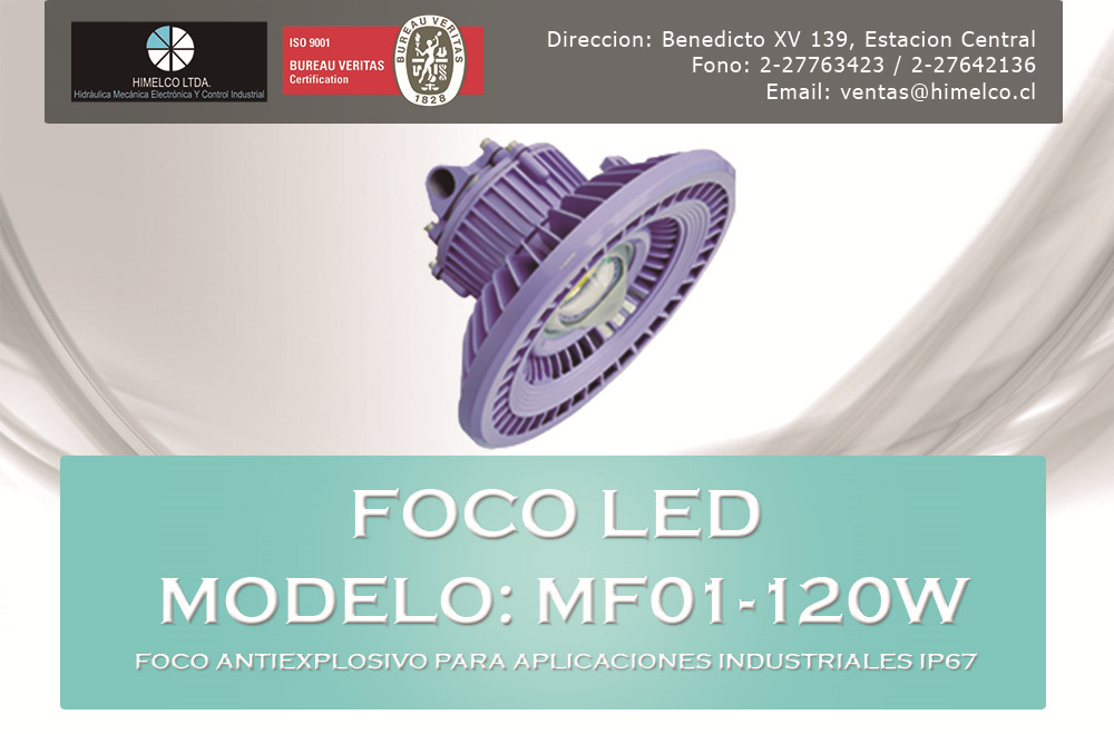 Foco anti-explosivo MF01-120W